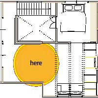 箕面市の注文住宅フリースペースの図面