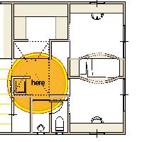 箕面市の注文住洗面室の図面