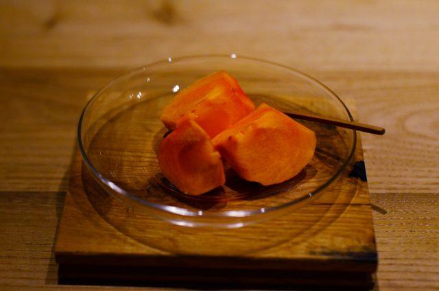 お客様に頂いた柿