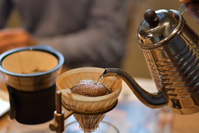 ペレットストーブでつくるコーヒー